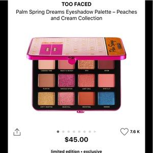 Too Faced Palm Springs Dream Palette(New)